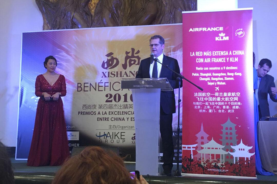 Castro del Río, galardonado en los Premios Xishang por promover las relaciones entre España y China