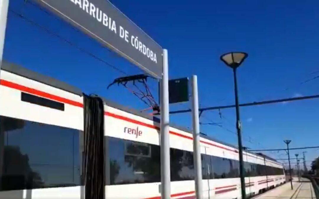 Arranca el tren entre las barriadas periféricas de Alcolea y Villarrubia
